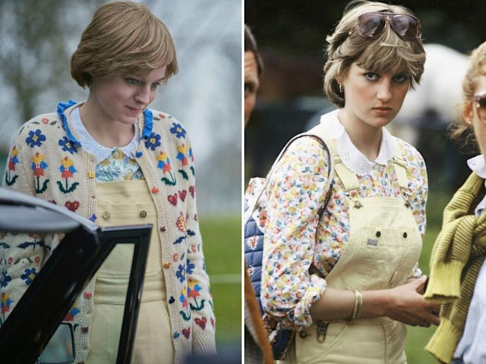 princess diana emma corrin the crown outfit