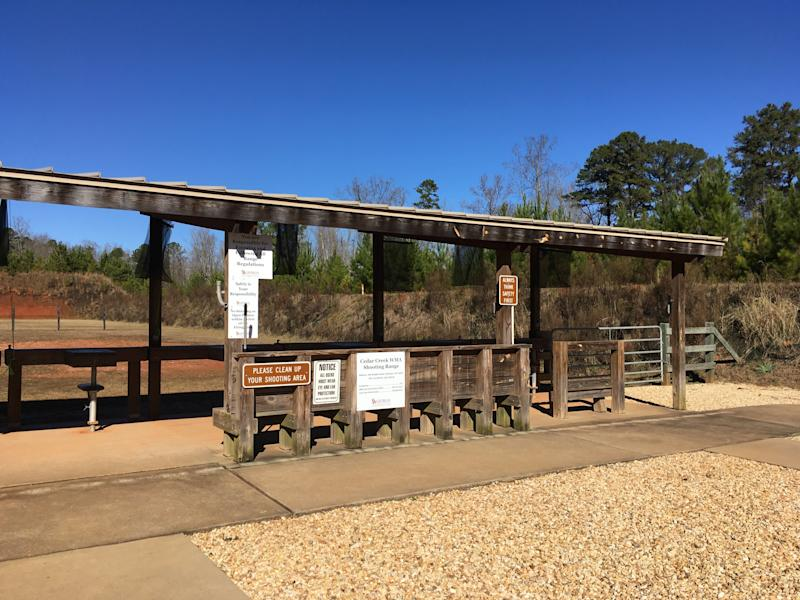 A quiet day at the Cedar Creek Shooting Range, Eatonton, Georgia, in January 2019. (Courtesy of Mel Plaut)
