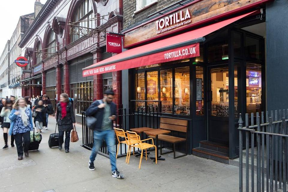 Burrito chain Tortilla is to launch on the stock market and has unveiled ambitious expansion plans (Giles Christopher/Tortilla/PA)