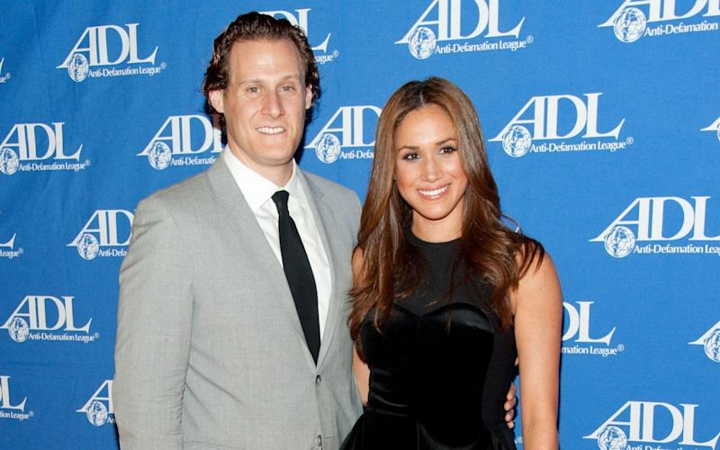 Meghan Markle and Trevor Engelson, pictured in 2011 - Getty Images North America