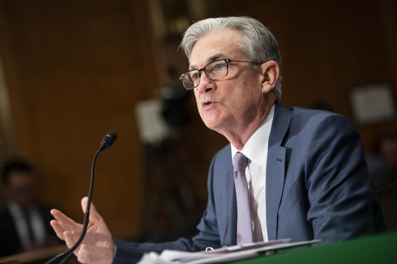 UNITED STATES - FEBRUARY 12: Federal Reserve chairman Jerome Powell testifies before the Senate Banking, Housing and Urban Affairs Committee on the Semiannual Monetary Policy Report on Wednesday, Feb. 12, 2020. (Photo by Caroline Brehman/CQ-Roll Call, Inc via Getty Images)