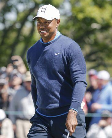 Mar 15, 2018; Orlando, FL, USA; Tiger Woods walks on the seventh green during the first round of the Arnold Palmer Invitational golf tournament at Bay Hill Club & Lodge . Mandatory Credit: Reinhold Matay-USA TODAY Sports