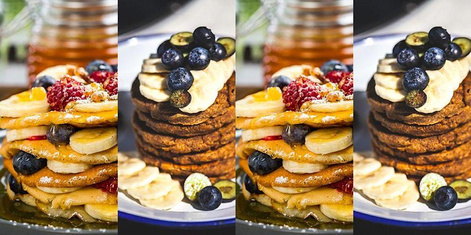 16 of the most popular healthy pancake recipes on Pinterest