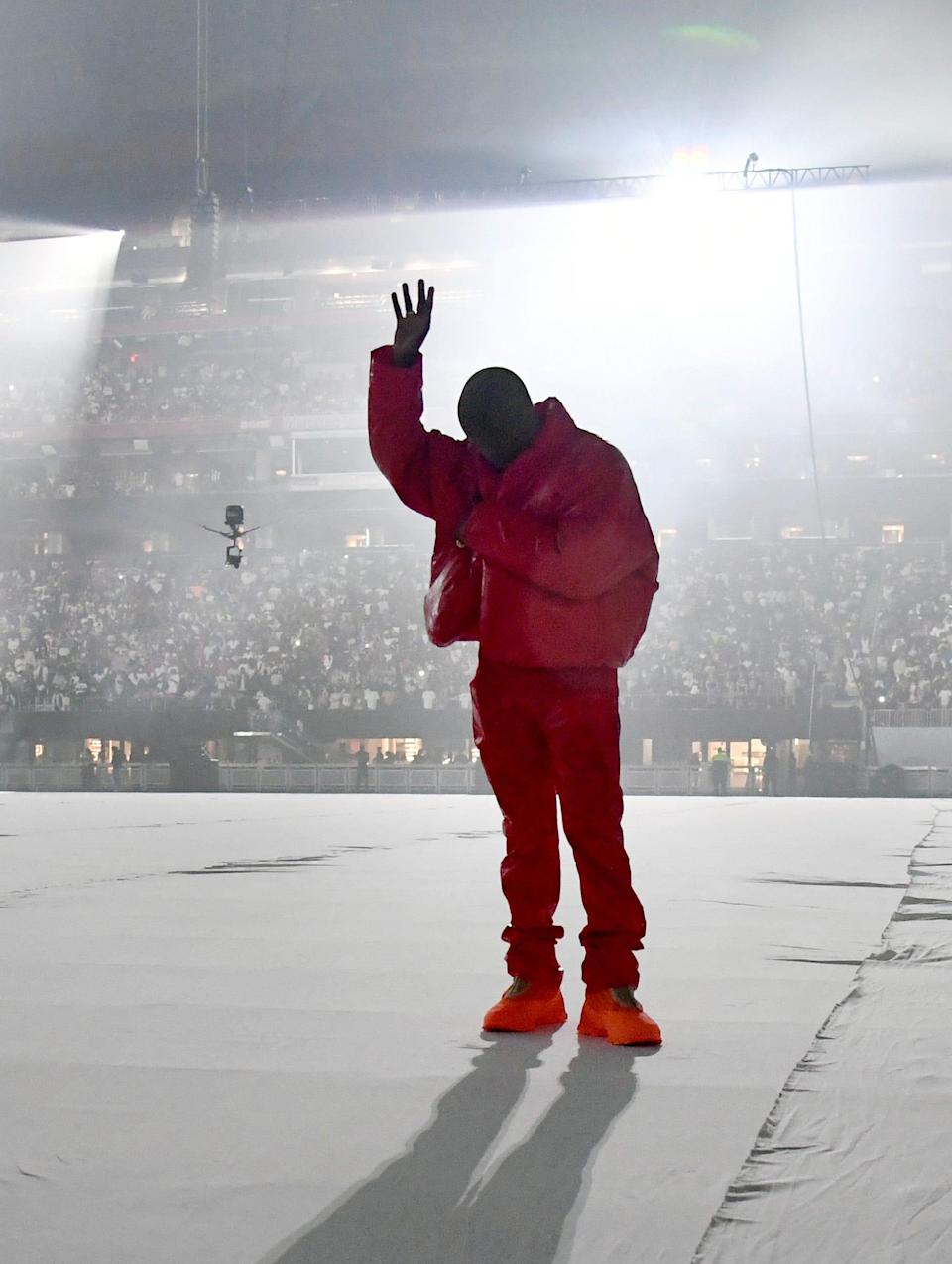 """Kanye West debuted his """"Donda"""" album at an event at Mercedes-Benz Stadium on July 22, 2021, in Atlanta."""