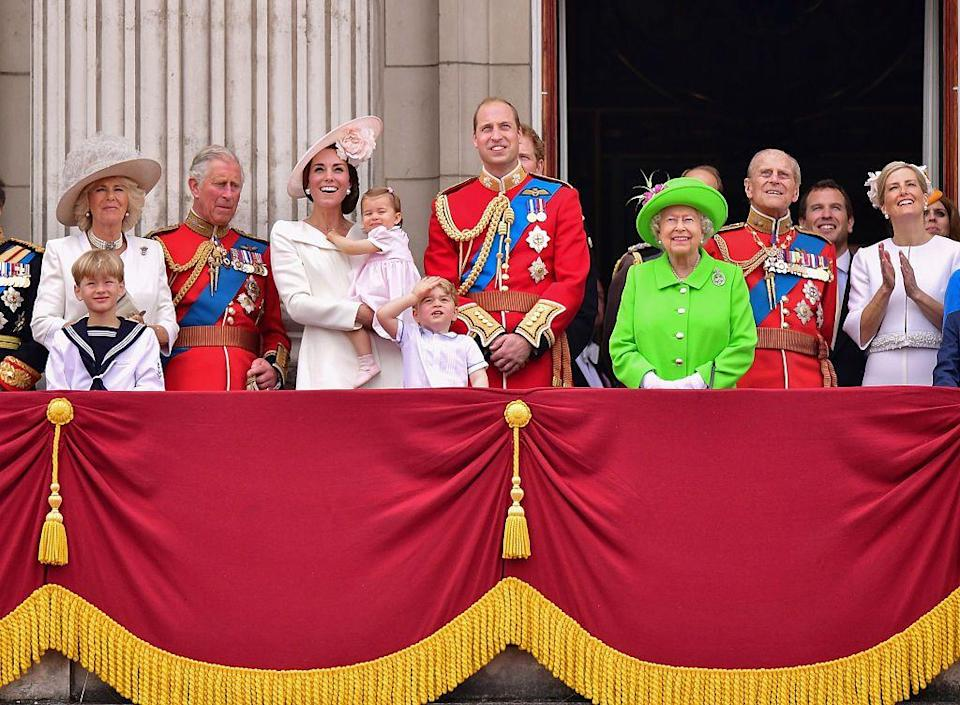 """<p>""""You have to be able to see that figure in a lemon coat and hat from far away,"""" Hugo Vickers, the Queen's biographer, told the <em><a href=""""http://www.nytimes.com/2012/06/03/fashion/queen-elizabeth-ii-sets-a-style-standard.html"""" rel=""""nofollow noopener"""" target=""""_blank"""" data-ylk=""""slk:New York Times"""" class=""""link rapid-noclick-resp"""">New York Times</a></em>. Here she is in a lime green suit for her 90th birthday celebration. <br></p>"""