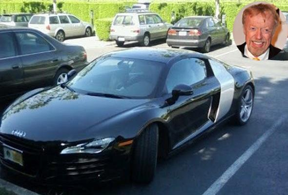 Nike founder Phil Knight has a $120,000 Audi R8. Knight, however, went for a bolder approach and got a black model with a contrasting silver sideblade. A Nike employee snapped his car, seen here, at the company's headquarters in Oregon. information via Wikipedia.