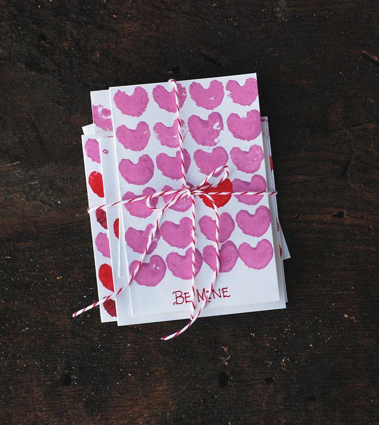 "<p>Who knew celery could be so sweet?! To make these DIY cards, just cut off the ends of a few celery stalks, brush paint onto the ends, and stamp away.</p><p><strong>See more at <a href=""https://themerrythought.com/diy/celery-print-valentines/"" rel=""nofollow noopener"" target=""_blank"" data-ylk=""slk:The Merrythought"" class=""link rapid-noclick-resp"">The Merrythought</a>.</strong></p><p><a class=""link rapid-noclick-resp"" href=""https://go.redirectingat.com?id=74968X1596630&url=https%3A%2F%2Fwww.walmart.com%2Fip%2FFolkArt-5070E-Matte-Acrylic-Craft-Paint-Set-Festival-24-fl-oz-12-Pc%2F52620447&sref=https%3A%2F%2Fwww.thepioneerwoman.com%2Fhome-lifestyle%2Fcrafts-diy%2Fg35084525%2Fdiy-valentines-day-cards%2F"" rel=""nofollow noopener"" target=""_blank"" data-ylk=""slk:SHOP PAINT"">SHOP PAINT</a></p>"