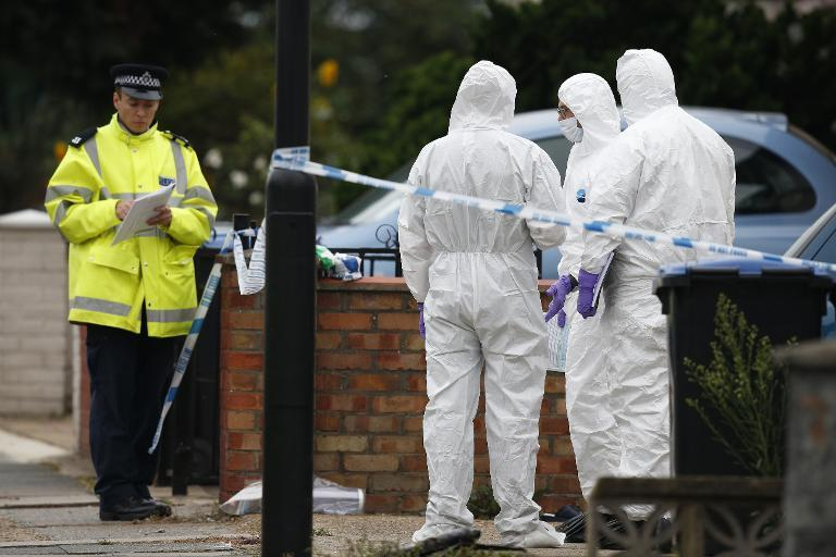 A murder investigation is under way after four members of the same family were found dead at their home in Bradford, police said (AFP Photo/Adrian Dennis)