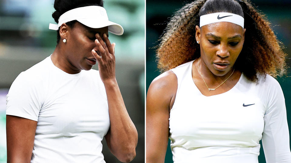 Venus and Serena Williams, pictured here in action at Wimbledon.