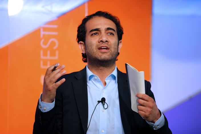 Shadi Hamid, fellow at the Project on U.S.-Islamic World Relations at the Brookings Institution's Saban Center for Middle East Policy, speaks during the Aspen Ideas Festival in Aspen, Colo., in July 2014. (Photo: Matthew Staver/Bloomberg via Getty Images)