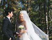 """<p>Model Karlie Kloss married boyfriend Joshua Kushner in a surprise ceremony just three months after their engagement in July. Posting a rare Instagram pic, Kloss revealed her custom Dior wedding dress with lace overlay and impressive veil with the caption, '10.18.2018 ❤️'. According to <a href=""""https://people.com/style/karlie-kloss-marries-joshua-kushner/"""" rel=""""nofollow noopener"""" target=""""_blank"""" data-ylk=""""slk:People"""" class=""""link rapid-noclick-resp"""">People</a>, the ceremony was small, about 80 people, and took place in upstate New York on Thursday evening.</p><p><a href=""""https://www.instagram.com/p/BpGCiGlHqME/?taken-by=karliekloss"""" rel=""""nofollow noopener"""" target=""""_blank"""" data-ylk=""""slk:See the original post on Instagram"""" class=""""link rapid-noclick-resp"""">See the original post on Instagram</a></p>"""
