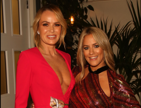Amanda Holden and Caroline Flack at the GLobal GIft gala