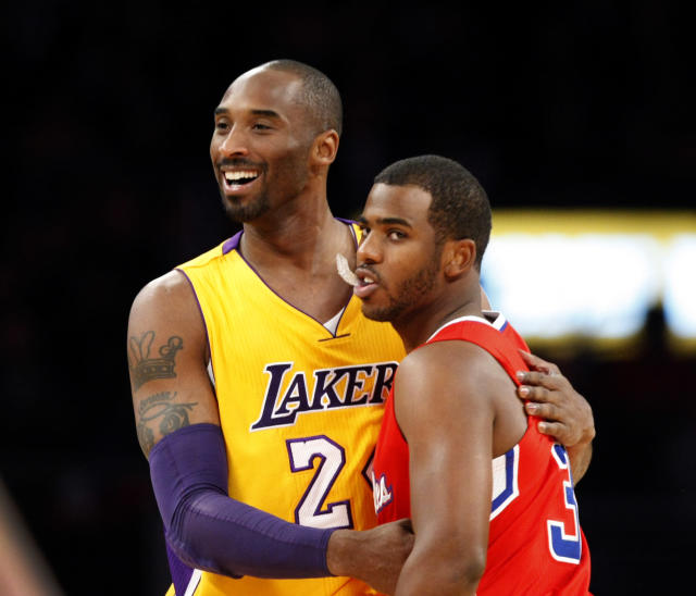 Chris Paul took Monday's game off in the aftermath of Kobe Bryant's death. (Allen J. Schaben/Los Angeles Times via Getty Images)