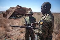Ugandan soldiers take part in AMANI AFRICA II, the first military exercise of the African Union's African Standby Force (AFP Photo/Mujahid Safodien)