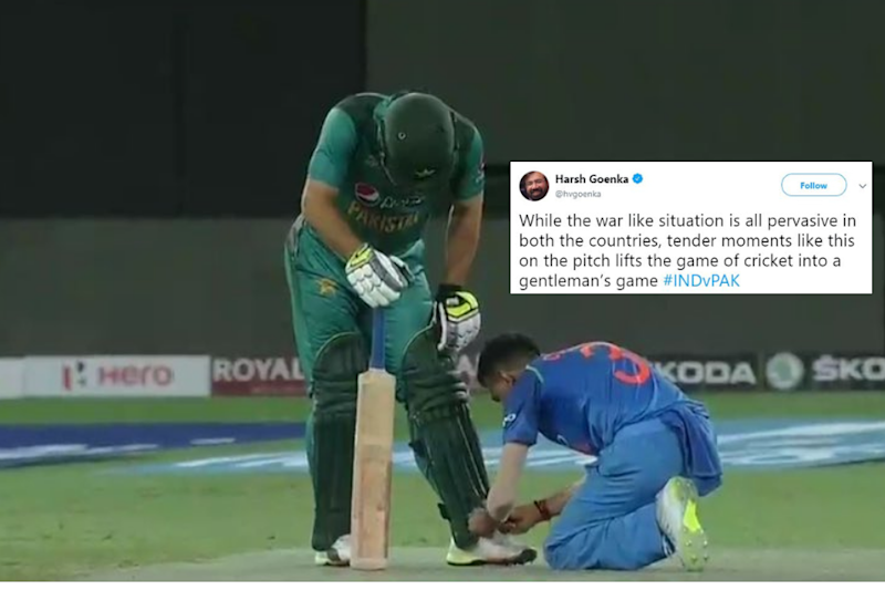 An Indian Player Tied the Shoe Lace of a Pakistani Player On-Field. This is Why We Love Cricket.