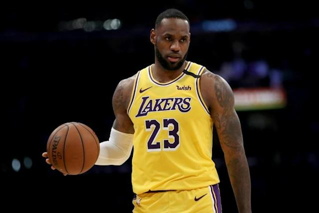 LeBron James of the Los Angeles Lakers stretched his overall lead in NBA All-Star Game fan voting released on Thursday (AFP Photo/Sean M. Haffey)