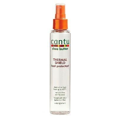 <p>Before a blow-dry, use this <span>Cantu Shea Butter Thermal Shield Heat Protectant</span> ($5) to reduce any potential heat damage.</p>