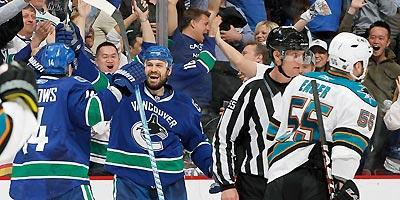 The Canucks scored power-play goals on two Ben Eager minors
