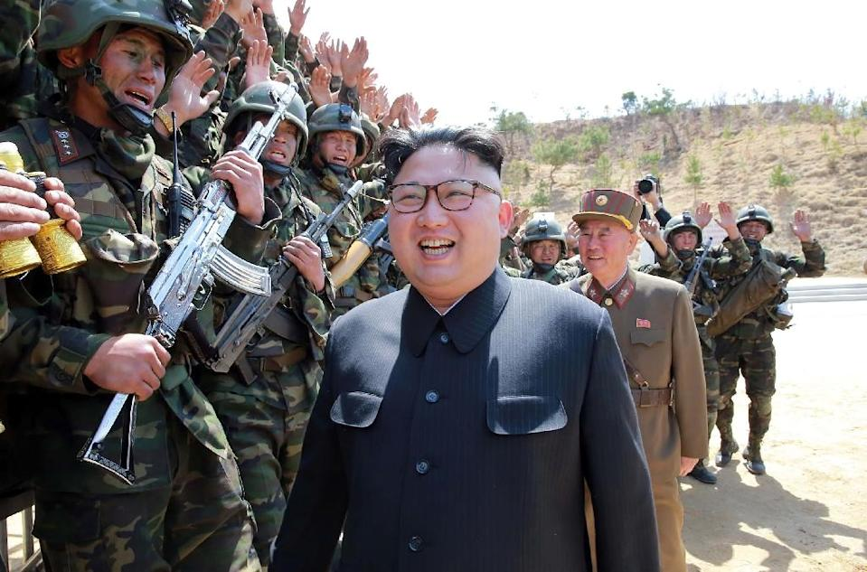 Kim Jong-Un has shrugged off international warnings and economic sanctions in his relentless drive as leader to turn the North into a credible -- and feared -- nuclear-armed state (AFP Photo/STR)