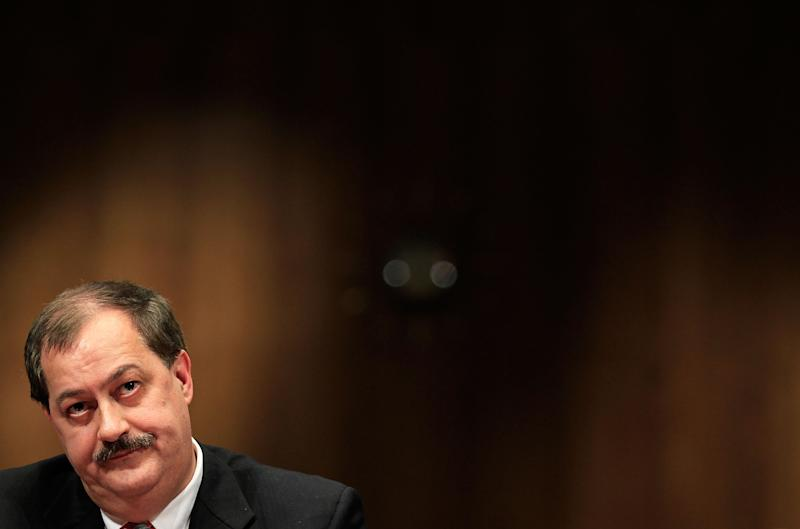 Former chief of Massey Energy Don Blankenship pauses as he testifies during a hearing on May 20, 2010 in Washington, DC