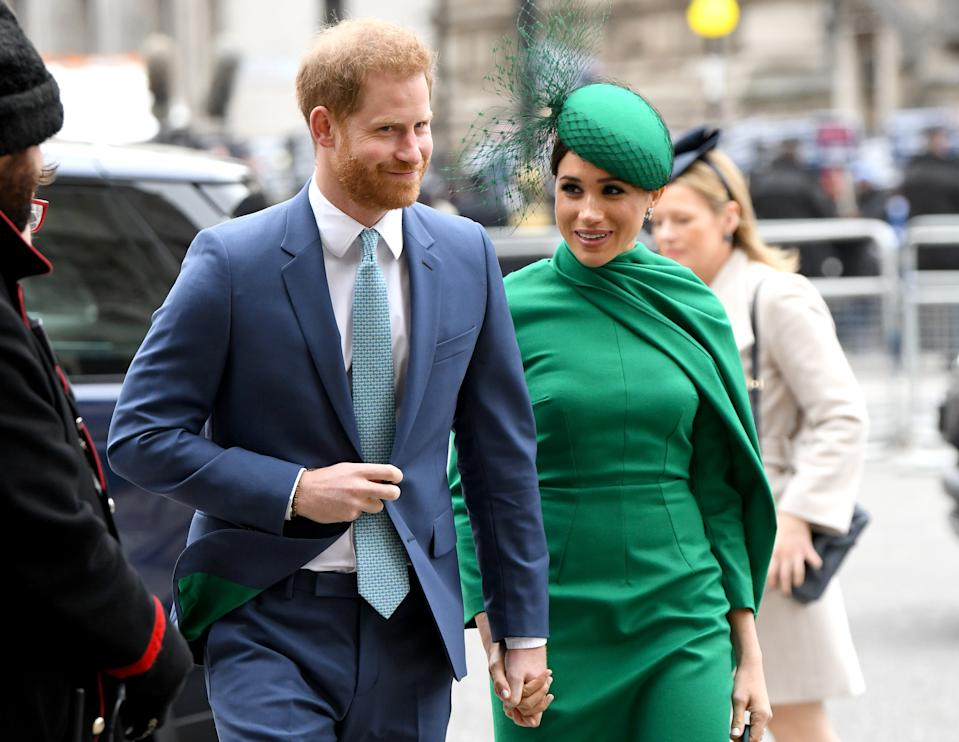 The Commonwealth Day service in 2020 was the couple's last engagement as senior royals. (WireImage)