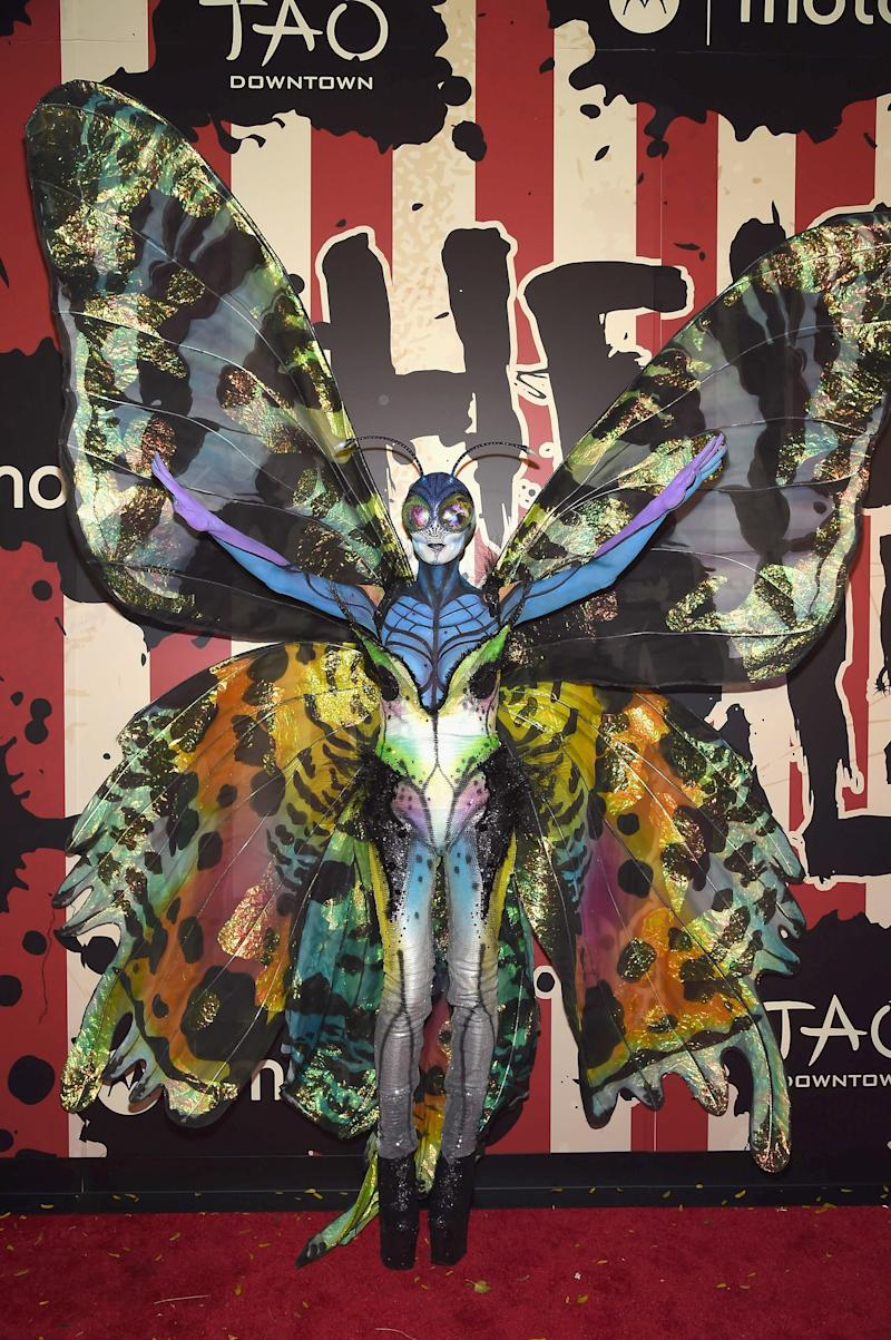 Heidi Klum dressed as a butterfly attends Heidi Klum's 15th Annual Halloween Party at TAO Downtown on October 31, 2014 in New York City. Photo courtesy of Getty Images.