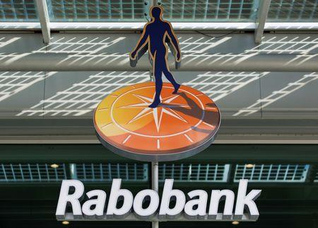 The logo of Rabobank is seen at its headquarters in Utrecht