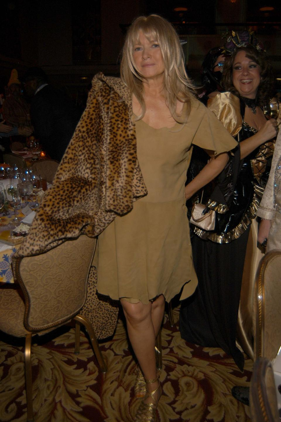 "Stewart at Bette Midler's New York Restoration Project ""Hulaween"" Gala and Midler's 60th birthday celebration in New York City on Oct. 31, 2005."