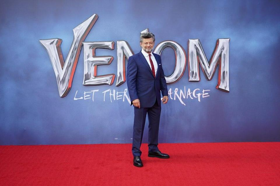 Andy Serkis arriving at Cineworld Leicester Square, central London, for a fan screening of Venom. Picture date: Tuesday September 14, 2021. (PA Wire)