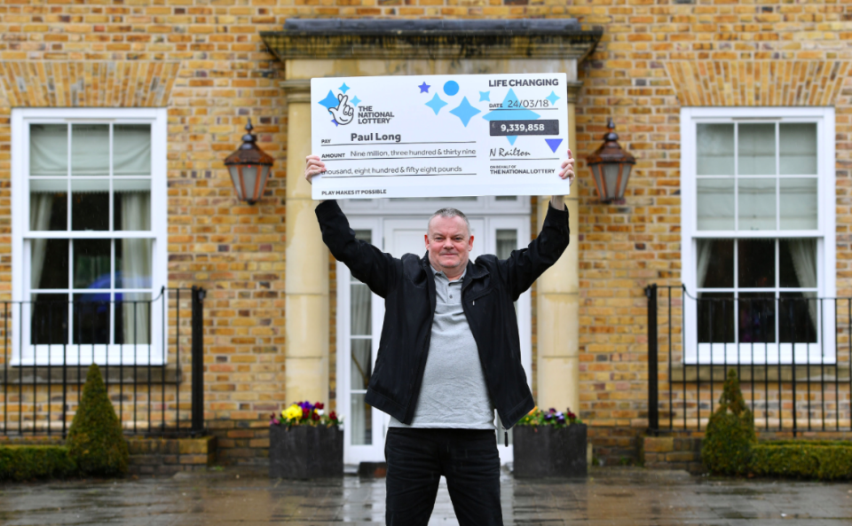 <em>Paul Long revealed he broke up from his girlfriend weeks before winning £9m on the Lottery (SWNS)</em>