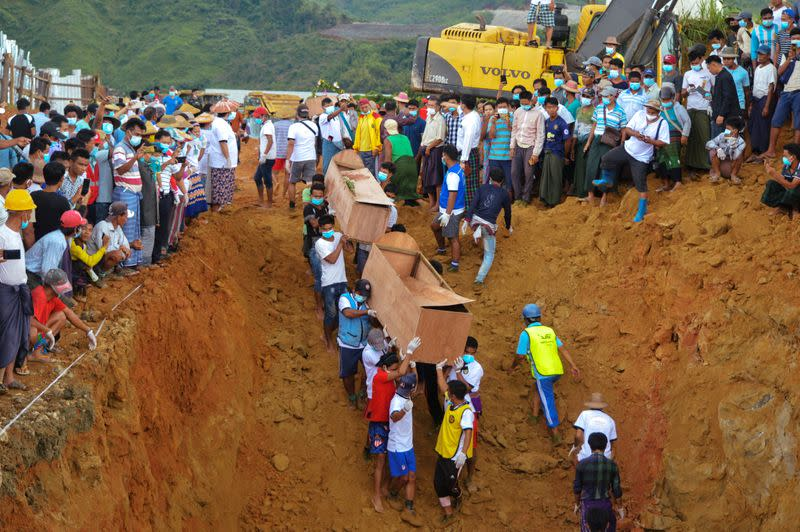 More bodies buried in mass grave after Myanmar jade mine landslide