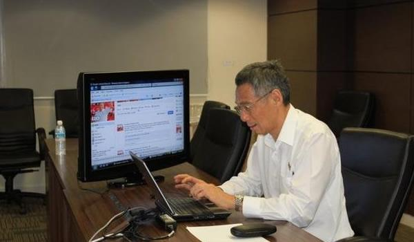 In his speech, PM Lee said the Government needs to be active and adept in communicating with Singaporeans online. (Screengrab from Facebook)