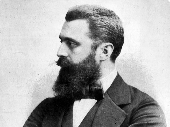 Austro-Hungarian journalist Dr Theodor Herzl who wrote The Jewish State advocating a nation in Palestine (Getty)