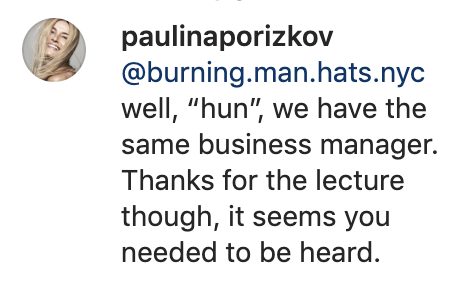 (Screenshot: Paulina Porizkova via Instagram)