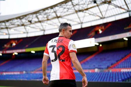 Robin van Persie is pictured on the pitch of De Kuip stadium, after the Dutch player signed a contract with Feyenoord, in Rotterdam, Netherlands January 22, 2018. REUTERS/Cris Toala Olivares/File Photo