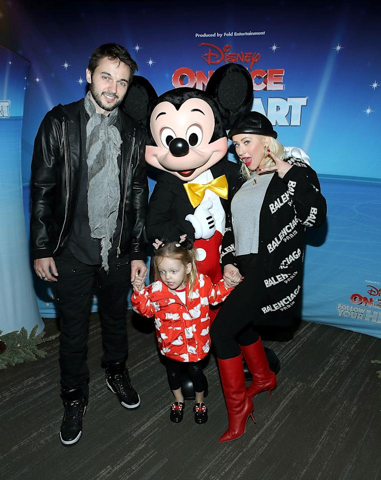 "<p><em><a rel=""nofollow"" href=""http://disneyonice.com"">Disney on Ice: Follow Your Heart</a></em> brings classic Disney characters to life through ice skating at the Staples Center in Los Angeles. The show's website asks audiences to ""swim with Dory and new pal Hank from <em>Finding Dory</em>, cheer with the emotions from <em>Inside Out</em>, join Olaf as he helps reunite Anna and Elsa, see the Disney Princesses achieve their dreams and celebrate true friendship with the <em>Toy Story</em> gang."" Celeb parents including Christina Aguilera, Gwen Stefani, Vanessa Lachey, Alanna Masterson, Mila Kunis and Armie Hammer have turned out for the fun-filled Los Angeles show with their kids. </p>"