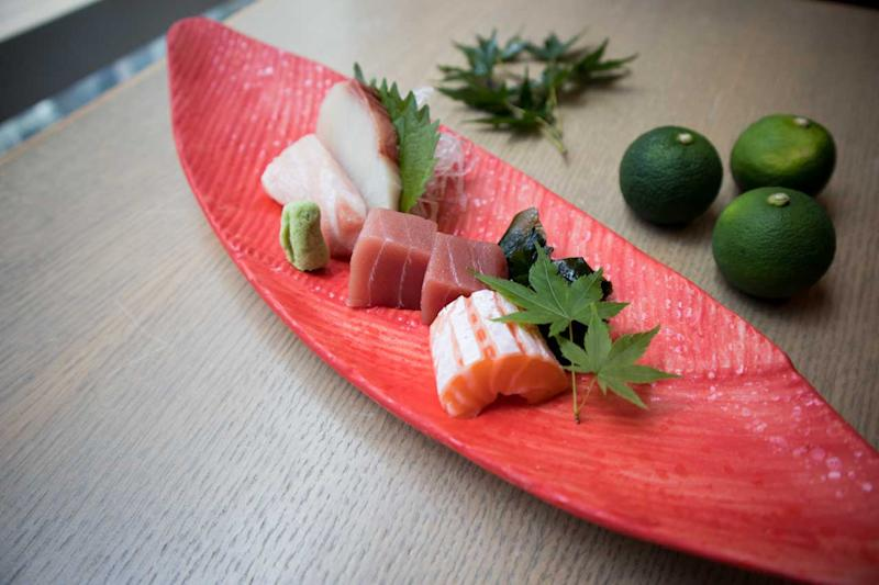 A quartet of fresh sashimi. (Photo: Zat Astha/Yahoo Lifestyle Singapore)