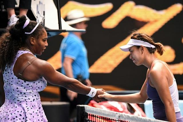 China's Wang Qiang beat Serena Williams in the third round (AFP Photo/William WEST)