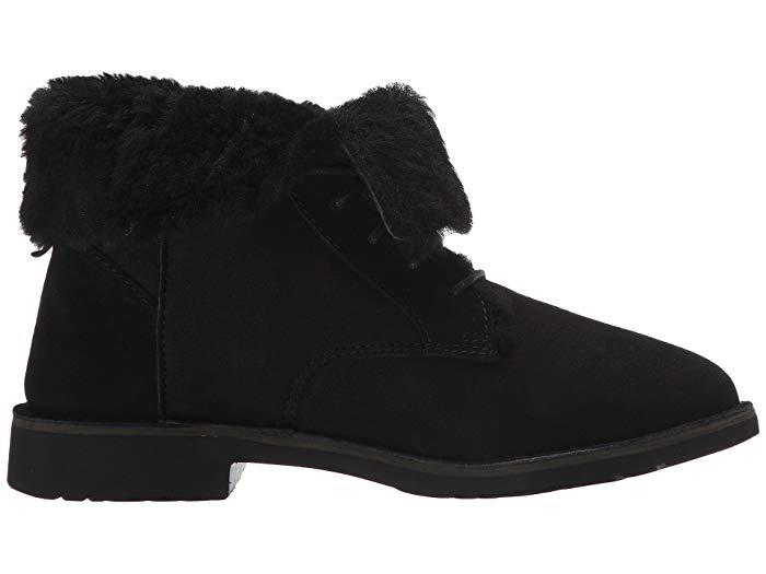 Along with classic and warm chestnut, the Ugg Quincy bootie comes in a stylish and sleek black. (Photo: Zappos)