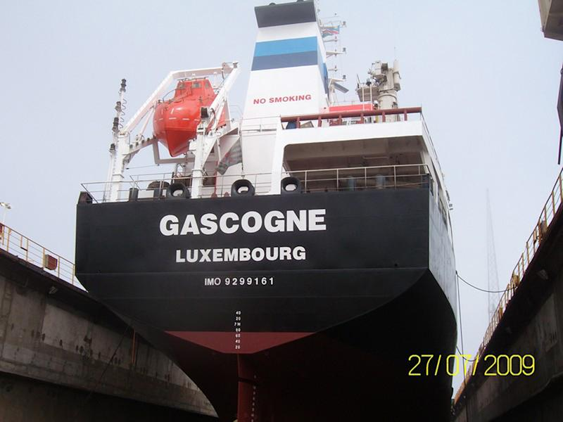 This undated photo provided Monday, Jan. 4, 2013 by Sea Tanker Shipping shows the French-owned oil tanker Gascogne.  The tanker, missing off Ivory Coast with 17 sailors on board, likely has been hijacked, an official with an international piracy watchdog said Monday Feb 4 2013, in what may be the latest attack by criminal gangs targeting the ships to steal their valuable cargo. Details remained scarce about the fate of the ship, flagged in Luxembourg. (AP Photo/Sea Tanker Shipping)