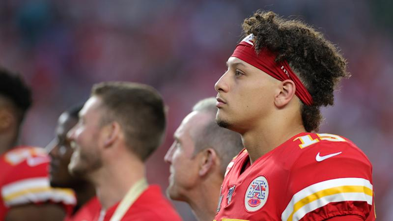 Mahomes scored the opening touchdown. (Photo by Maddie Meyer/Getty Images)