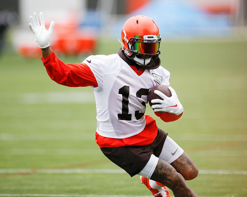 the latest e188b ffb8a Beckham Jr. is 'almost giddy' with the Cleveland Browns