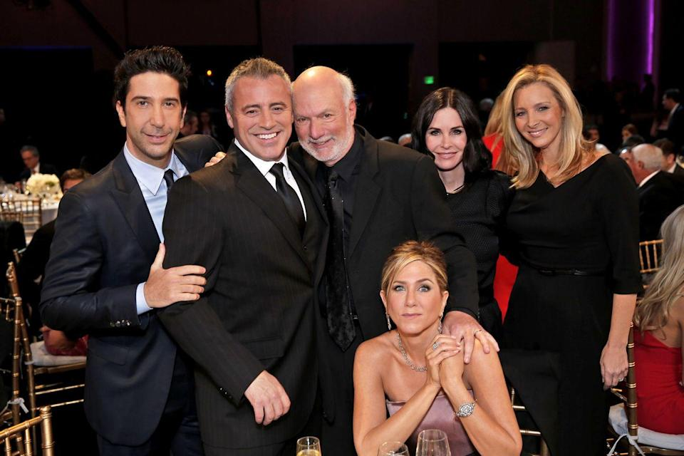 <p>All the cast but one (Perry had a play in London so was able to attend) had their first public reunion in years when they came together to celebrate James Burrows - one of the directors from Friends.</p>