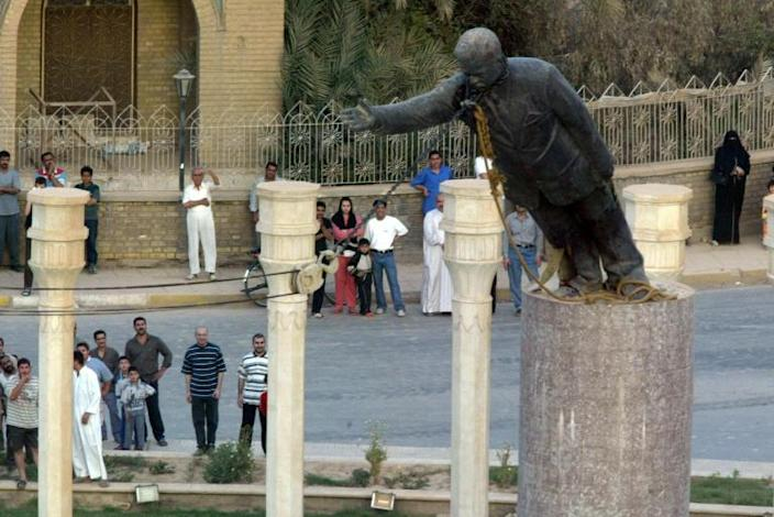 American promises of freedom and democracy ring hollow in Iraq 18 years after US troops seized Baghdad, and toppled a statue of Saddam Hussein