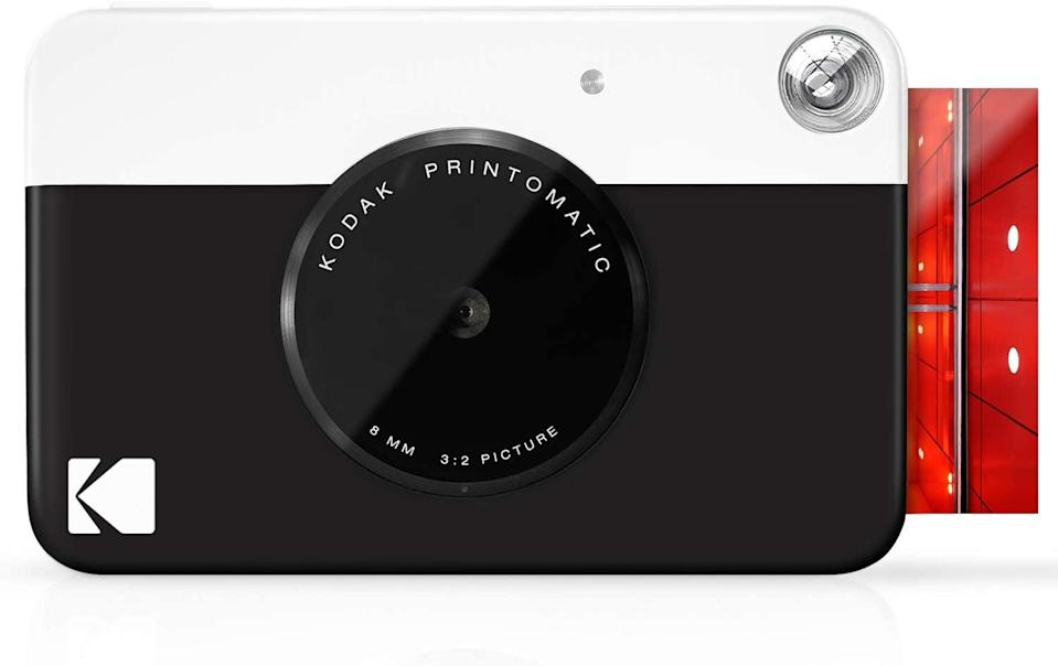 <p>If a digital camera and a Polaroid had a baby, it would be the <span>Kodak Printomatic Digital Instant Print Camera</span> ($50). You can print disposable-camera-style images instantly or store them in an SD card.</p>