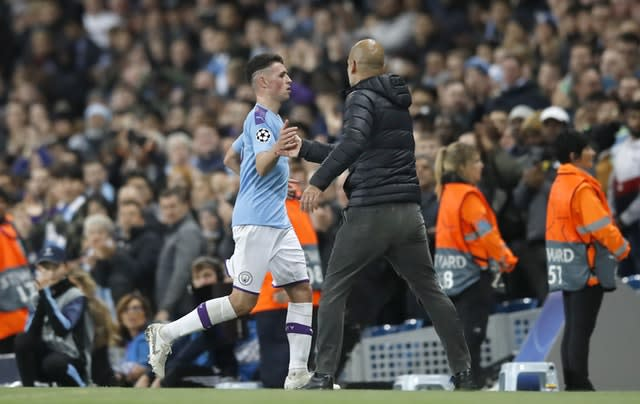 Phil Foden was sent off late on (Martin Rickett/PA)