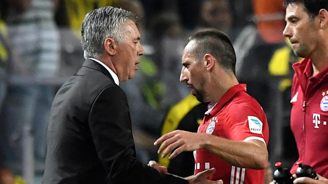 Carlo Ancelotti has questioned Franck Ribery's form as Bayern Munich prepare to take on Borussia Dortmund in the DFB-Pokal on Wednesday.