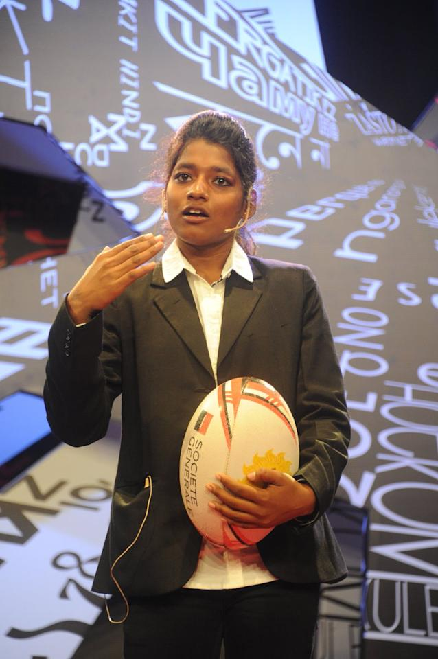 """In june 2019, Sumitra Nayak, the skipper of the women's Indian rugby team, made history as she led her team to victory and the first ever bronze medal, beating Singapore in the Asia Rugby Women's Championship Division 1. Nayak's story is one of hardships, grit and hardwork. Sumitra, her mother and her siblings ran away from her abusive father and settled in Bhubaneshwar. After holding her first rugby ball at the age of 11 in 2009, Nayak went on to play in the under-13 at England – her first international, in 2014. Nayak's dream is to take the Indian women's rugby team to the Olympics. Over the last few years, rugby, a sport originally from England, has slowly changed the lives of girls like Nayak from the interiors of Odisha.                                                                                                                                        Image credit: <a href=""""https://twitter.com/tedxpune/status/802434240436584448"""">TEDxPune Twitter</a>"""