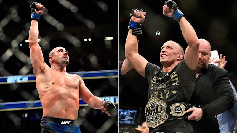 Whittaker looks set to get his dream fight against GSP. Pic: Getty