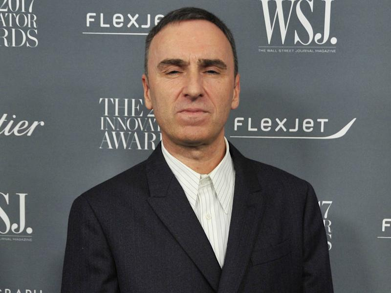 Raf Simons disliked pressure from the press while at Dior